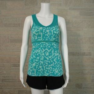 Lucy Green Print Workout Athletic Tank Top